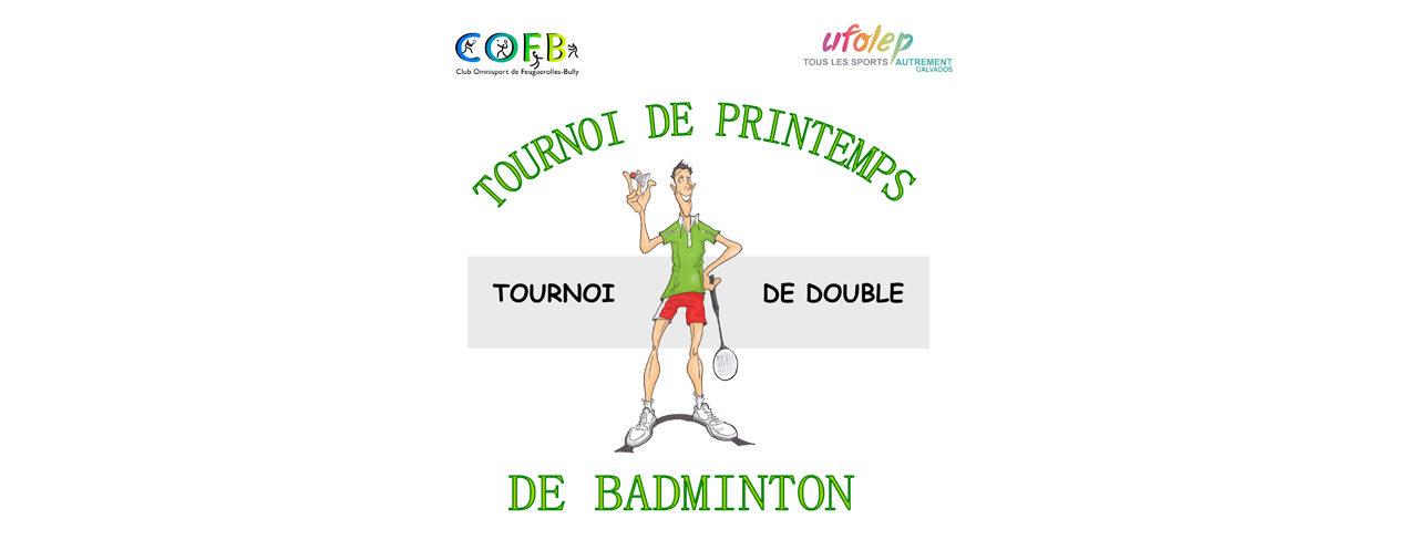 15 avril 2018 : tournoi amical de doubles organisé par Feuguerolles-Bully