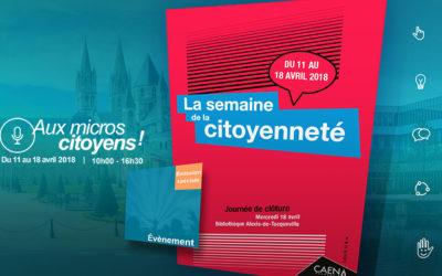 Semaine de la citoyenneté de Caen et Éducation populaire au XXIe siecle