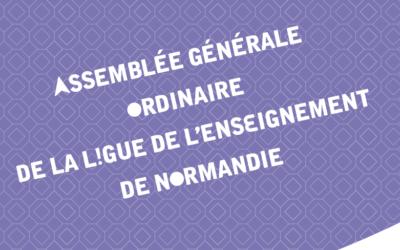 Assemblée Générale ordinaire de la Ligue de l'enseignement de Normandie, 12 juin 2018