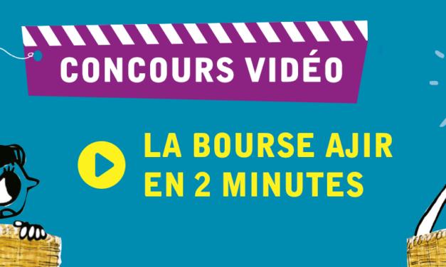Date limite de dépôt des vidéos pour le concours vidéo « La bourse AJIR en 2 minutes ».