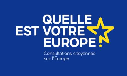 Consultation sur l'avenir de l'Europe