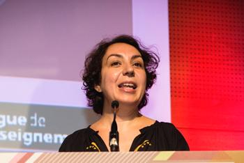 Nadia Bellaoui, secrétaire générale de la Ligue de l'enseignement, désignée parmi les cinq observateurs indépendants du Grand débat national