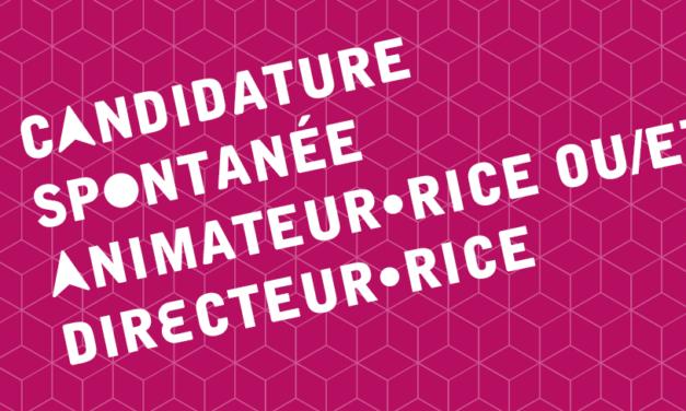 Candidature spontanée : Animateur·rice ou/et Directeur·rice