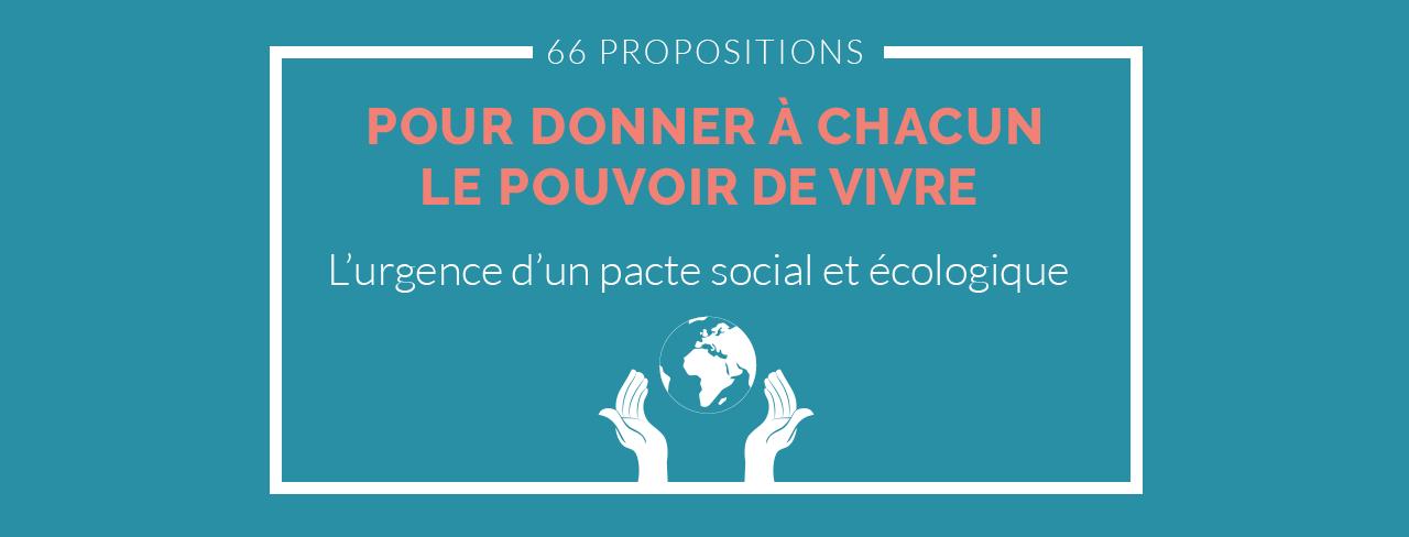 66 propositions pour un nouveau pacte social et écologique