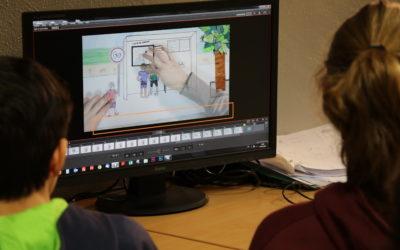 Tournage de courts métrages d'animation sur les préjugés sexistes au collège Dunois