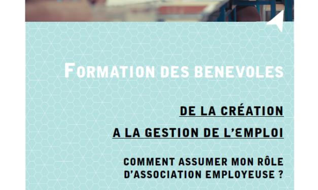 Formation des bénévoles – création gestion d'emploi
