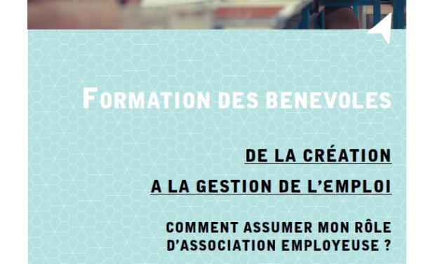 Formation des bénévoles – De la création à la gestion de l'emploi