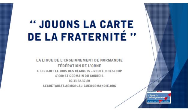 Exposition « Jouons la carte de la Fraternité »