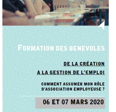 Formation pour les associations «Créer et gérer l'emploi dans une asso»