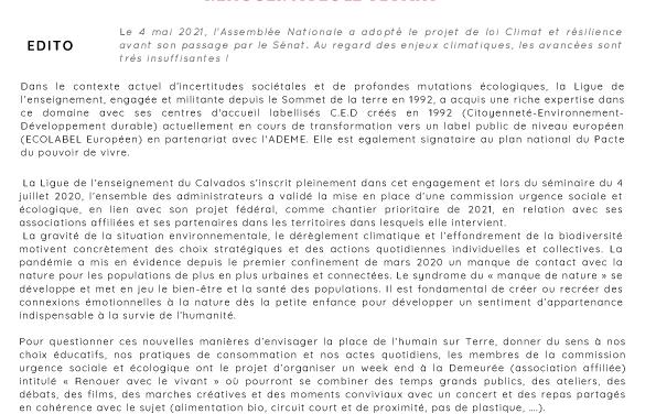 La Gazette de la fédération du Calvados N°2 • MAI 2021