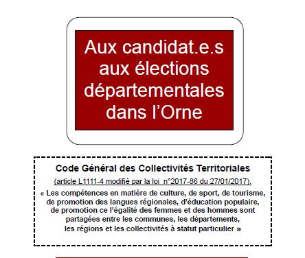 Plaidoyer élections départementales