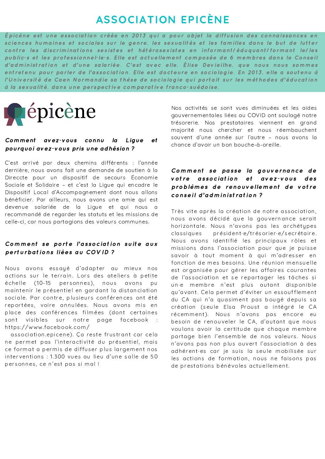 Interview d'Epicène
